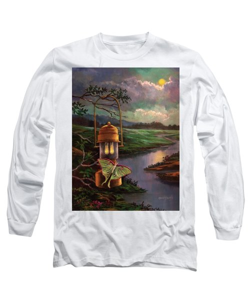 Moonlight, Silhouettes And Shadows Long Sleeve T-Shirt