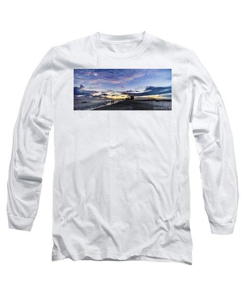 Moonlit Beach Sunset Seascape 0272b1 Long Sleeve T-Shirt