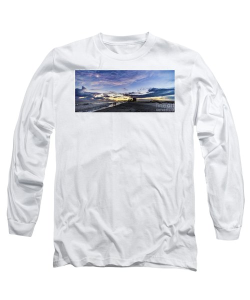 Moonlit Beach Sunset Seascape 0272b1 Long Sleeve T-Shirt