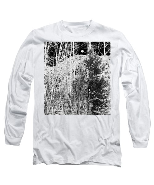 Long Sleeve T-Shirt featuring the digital art Moonrise Over The Mountain by Will Borden
