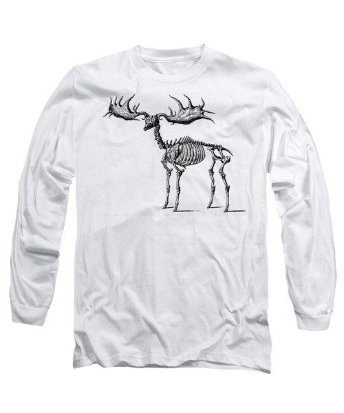 Moose Skeleton T Shirt Design Long Sleeve T-Shirt