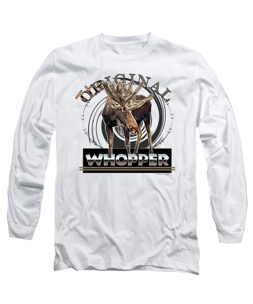 Moose Whooper Long Sleeve T-Shirt by Susan Kinney
