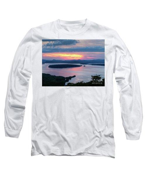 Mooselookmeguntic Lake In The Last Light Of Day - Rangeley Me  -63430 Long Sleeve T-Shirt