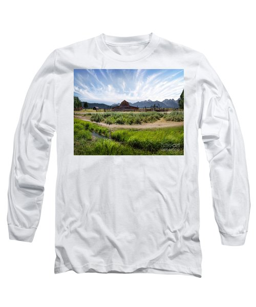Mormon Row Morning Long Sleeve T-Shirt