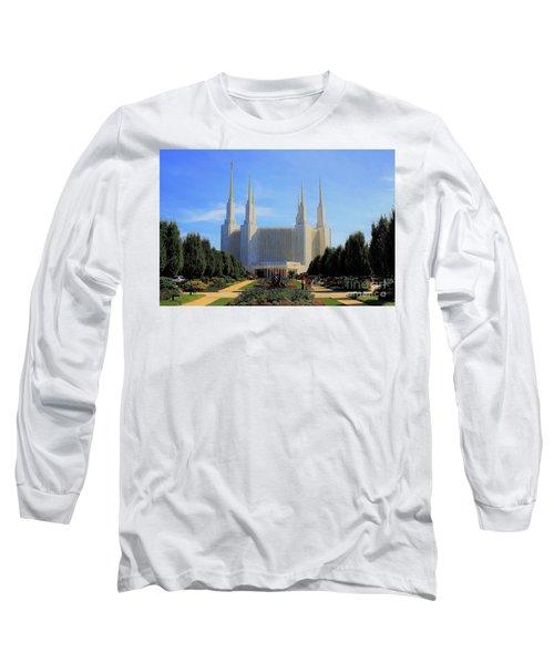 Mormon Temple Dc Long Sleeve T-Shirt