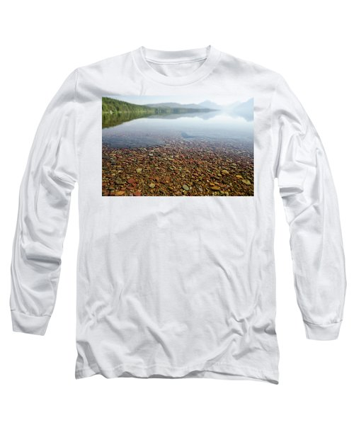 Morning At Lake Mcdonald Long Sleeve T-Shirt
