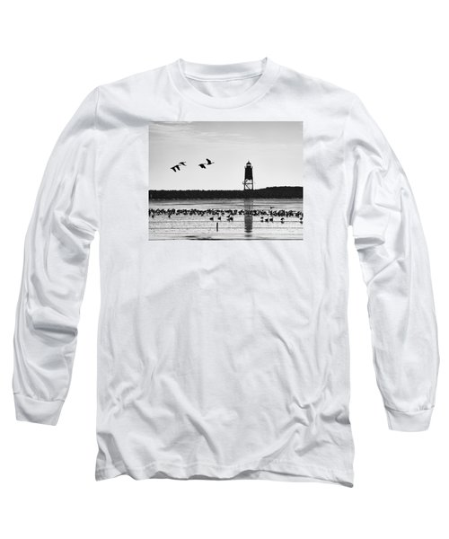 Long Sleeve T-Shirt featuring the photograph Morning At Racine Lakefront by Ricky L Jones