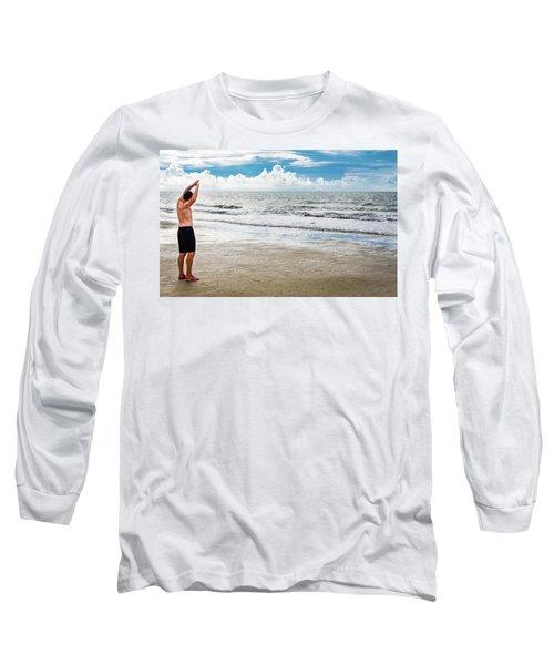 Morning Beach Workout Long Sleeve T-Shirt