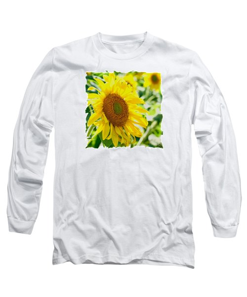 Morning Glory Farm Sun Flower Long Sleeve T-Shirt by Vinnie Oakes