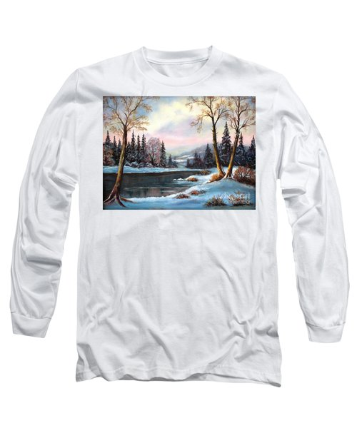 Long Sleeve T-Shirt featuring the painting Morning Glory by Hazel Holland