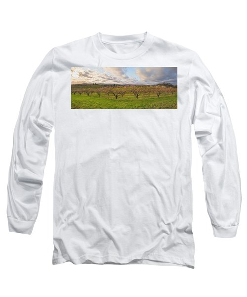 Morning Glory Orchards Long Sleeve T-Shirt by Angelo Marcialis