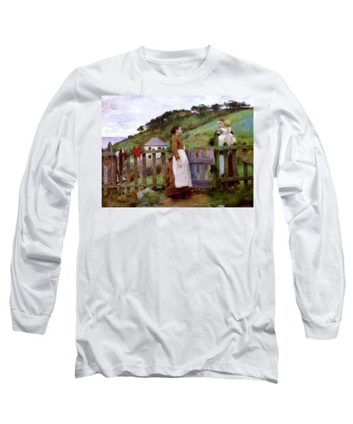 Long Sleeve T-Shirt featuring the painting Morning Gossip by Henry Scott Tuke