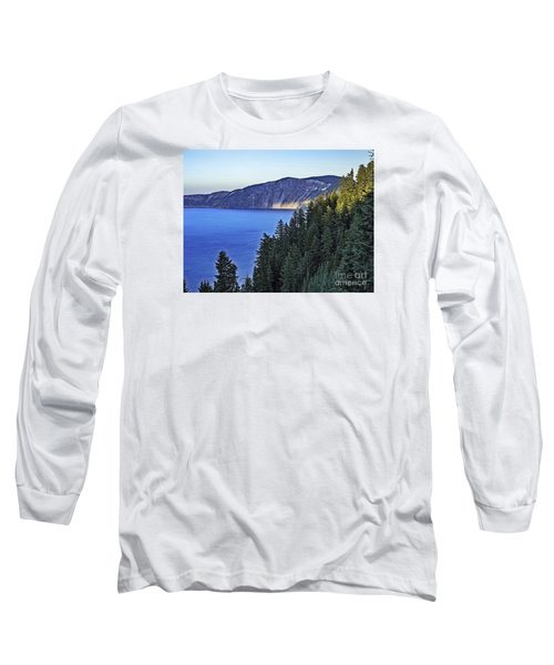 Long Sleeve T-Shirt featuring the photograph Morning Light At Crater Lake, Oregon by Nancy Marie Ricketts