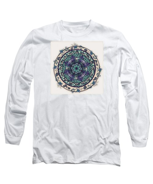 Morning Mist Mandala Long Sleeve T-Shirt by Deborah Smith