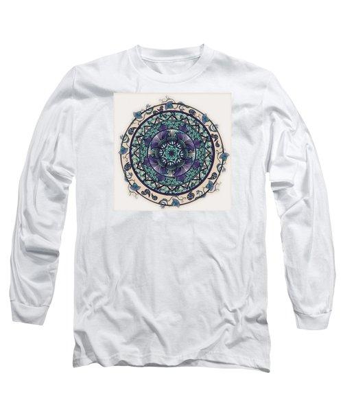 Morning Mist Mandala Long Sleeve T-Shirt