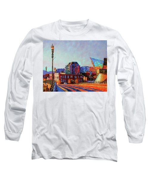 Morning Rush - The Corner Of Salem Avenue And Williamson Road In Roanoke Virginia Long Sleeve T-Shirt by Bonnie Mason