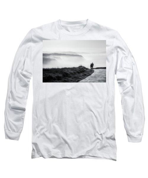 Morning Walk With Sea Mist Long Sleeve T-Shirt