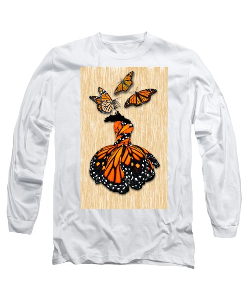 Long Sleeve T-Shirt featuring the mixed media Morphing by Marvin Blaine