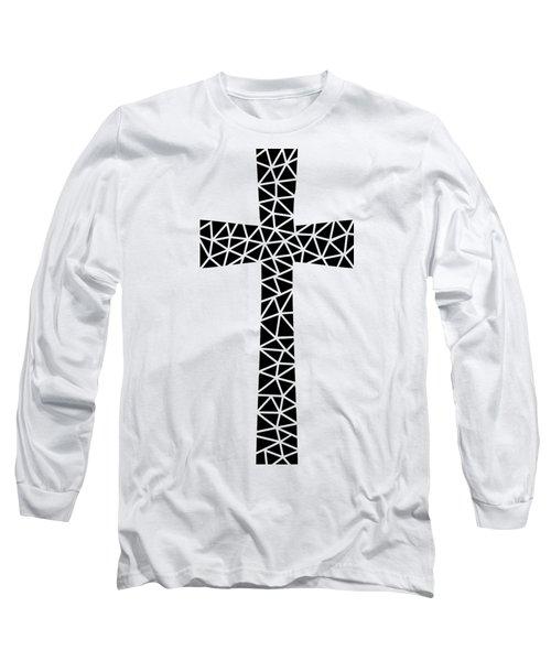 Mosaic Cross Transparent Long Sleeve T-Shirt