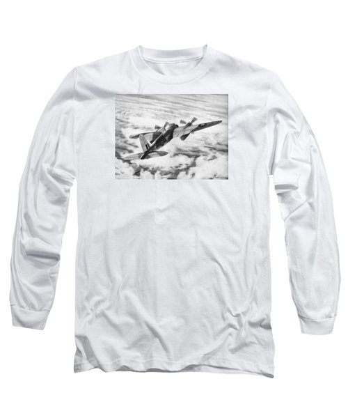 Mosquito Fighter Bomber Long Sleeve T-Shirt by Douglas Castleman