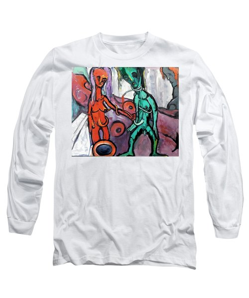 Mother-giant--offspring Long Sleeve T-Shirt by Kenneth Agnello