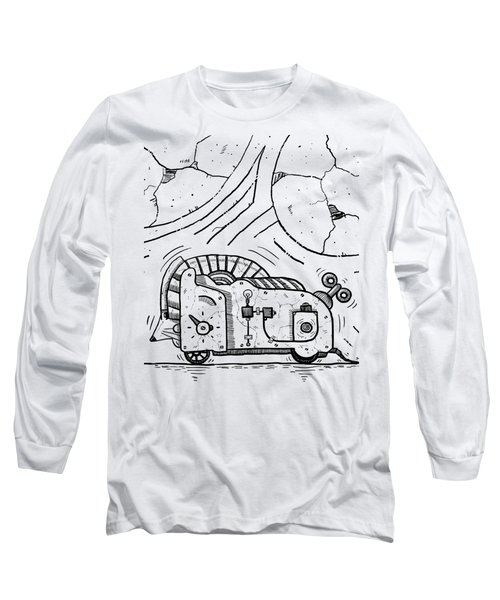 Moto Mouse Long Sleeve T-Shirt by Sotuland Art