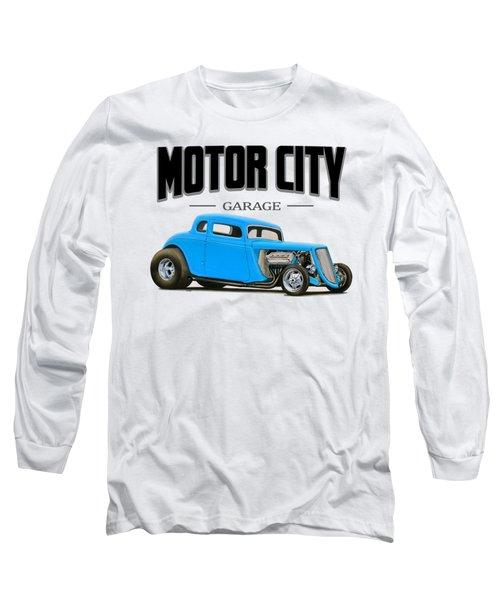 Motor City Hot Rod Long Sleeve T-Shirt