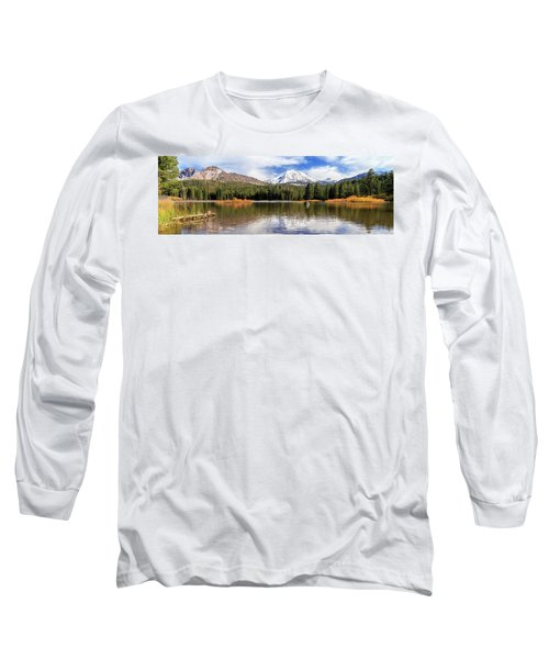 Long Sleeve T-Shirt featuring the photograph Mount Lassen Autumn Panorama by James Eddy
