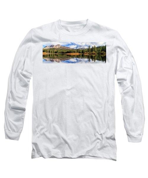 Mount Lassen Reflections Panorama Long Sleeve T-Shirt