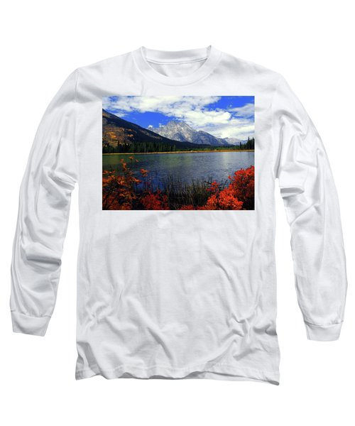 Long Sleeve T-Shirt featuring the photograph Mount Moran In The Fall by Raymond Salani III