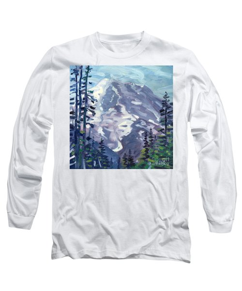 Mount Rainier From Sunrise Point Long Sleeve T-Shirt by Donald Maier