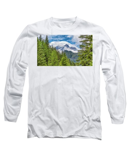 Long Sleeve T-Shirt featuring the photograph Mount Rainier View by Stephen Stookey