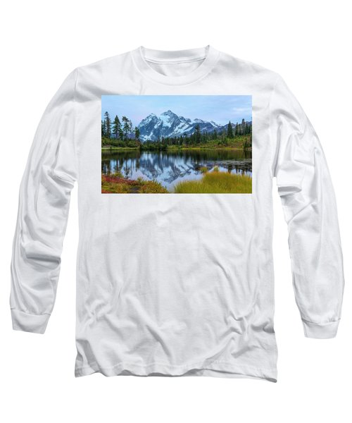 Mount Shuksan And Picture Lake Long Sleeve T-Shirt