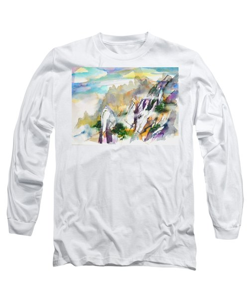 Mountain Awe #2 Long Sleeve T-Shirt