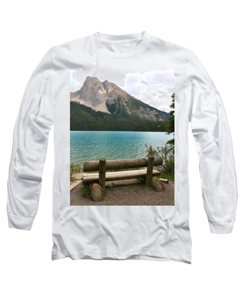 Mountain Calm Long Sleeve T-Shirt by Catherine Alfidi
