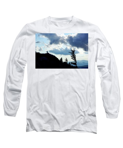 Mountain Peak Silhouette Long Sleeve T-Shirt