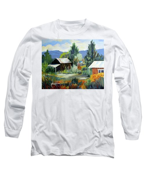 Mountain Settlement In New Mexico  Long Sleeve T-Shirt