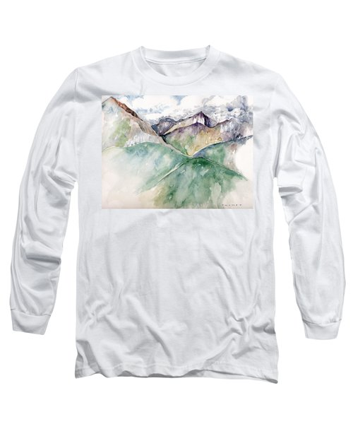 Mountain View Colorado Long Sleeve T-Shirt by Catherine Twomey