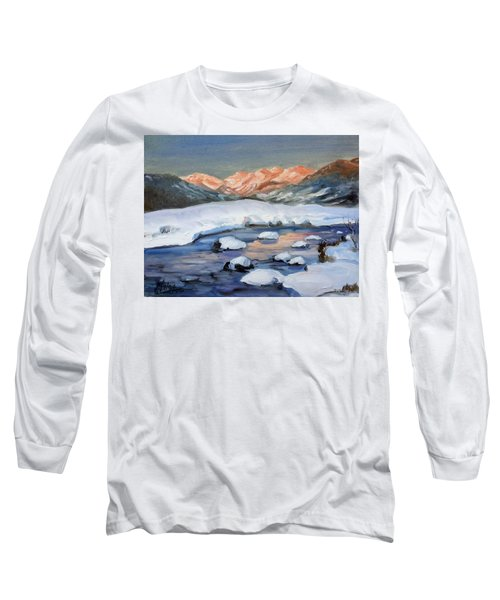 Mountain Winter Landscape 1 Long Sleeve T-Shirt