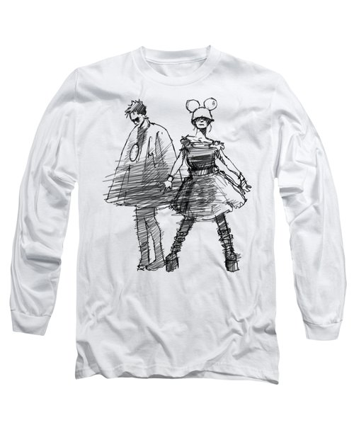 Mouse And Morse Long Sleeve T-Shirt by H James Hoff