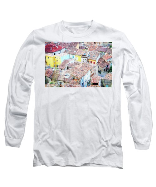 Moustiers Sainte Marie Roofs Long Sleeve T-Shirt by Anastasy Yarmolovich