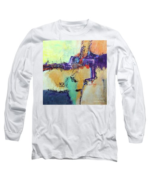 Long Sleeve T-Shirt featuring the painting Movin' Left by Ron Stephens