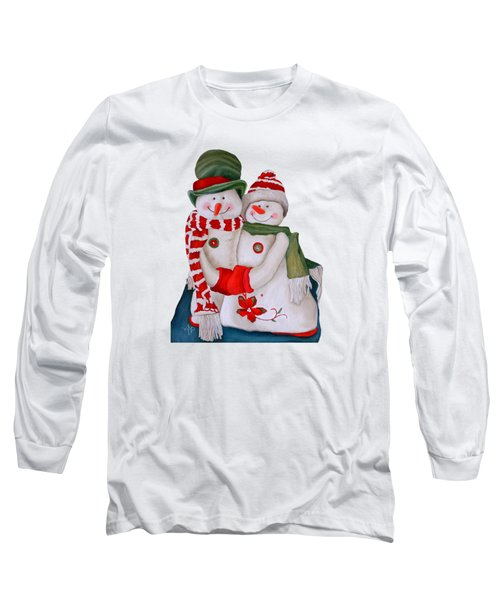 Mr. And Mrs. Snowman Long Sleeve T-Shirt