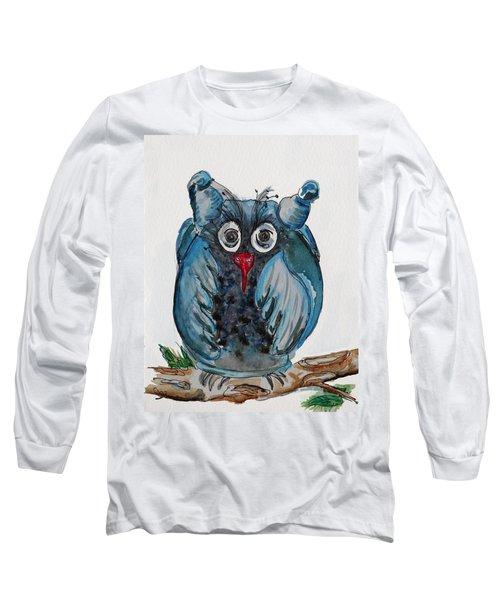 Mr. Blue Owl Long Sleeve T-Shirt