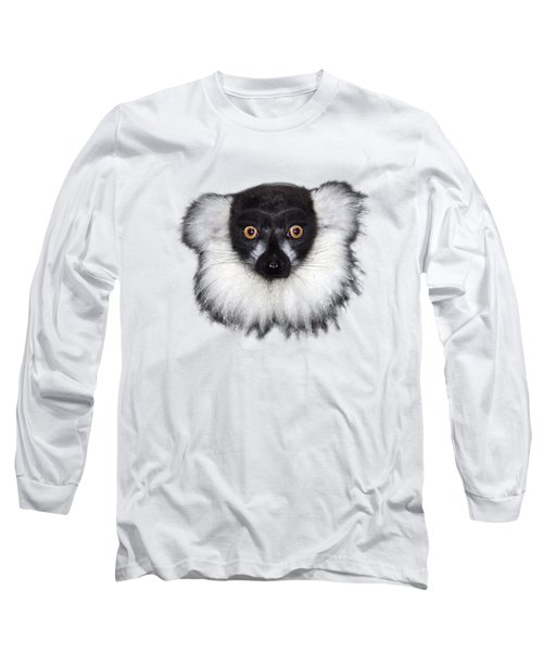 Mr Lemur On Transparent Background Long Sleeve T-Shirt