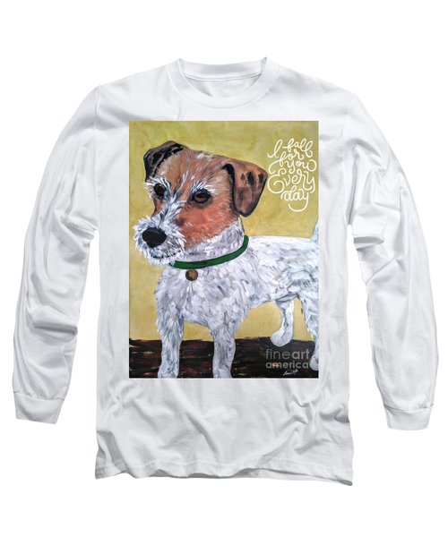 Mr. R. Terrier Long Sleeve T-Shirt by Reina Resto