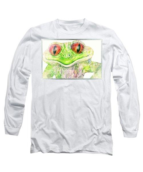 Mr Ribbit Long Sleeve T-Shirt by Pamela Williams