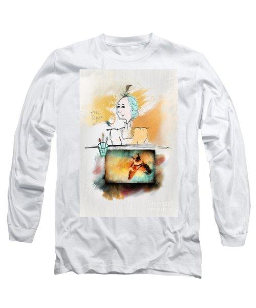 Mrs. Darwin's Theory Of Evolution Self Portrait  Long Sleeve T-Shirt