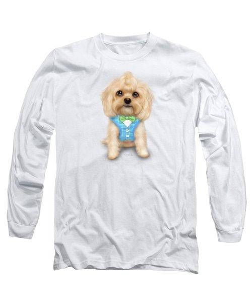 Mr.toby Waffles Long Sleeve T-Shirt by Catia Cho