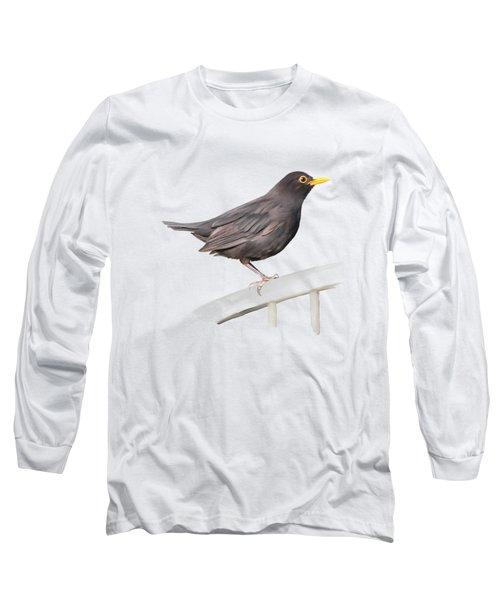 Ms. Blackbird Is Brown Long Sleeve T-Shirt